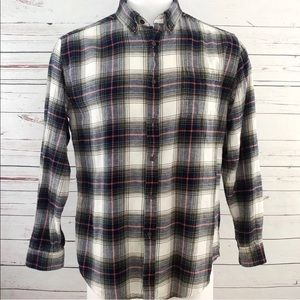 Croft & Barrow Mens Flannel Shirt L Plaid